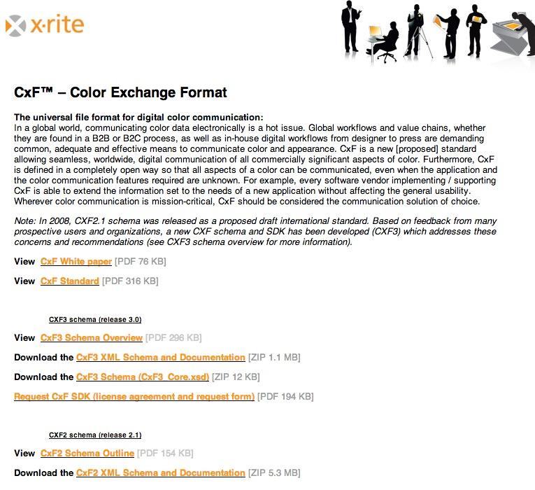 拡張子 cxf color exchange format color4u